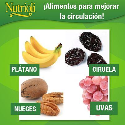 ¡Alimentos para mejorar la circulación!  #Nutrición y #Salud YG > nutricionysaludyg.com