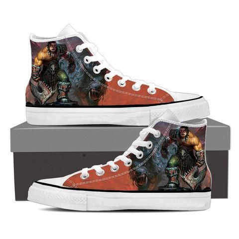 World of Warcraft Orc Warrior Grom Hellscream Sneaker Converse Shoes    #WorldofWarcraft #Orc #Warrior #Grom #Hellscream #Sneaker #ConverseShoes
