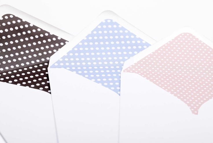 CocoCards: The luxurious touch - hand lined envelopes