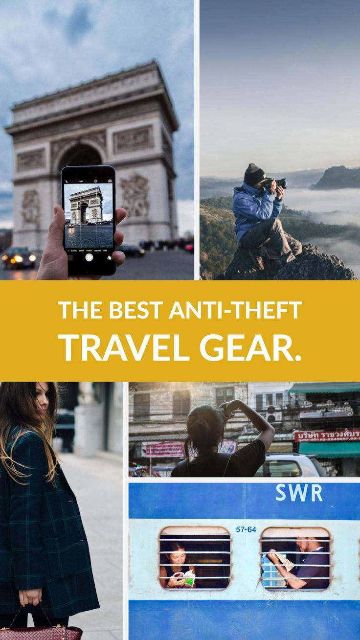 A complete guide to the best anti-theft travel gear and devices on the market as well as some tips for avoiding becoming a victim of theft while you travel. #travel #traveltips #travelgear #safetravel