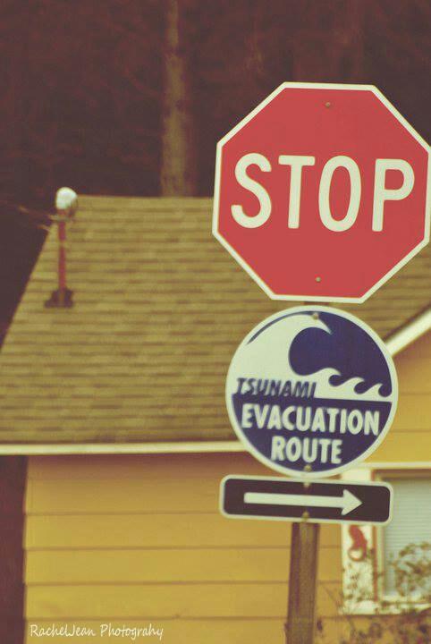 Evacuation route Ocean Shores Washington