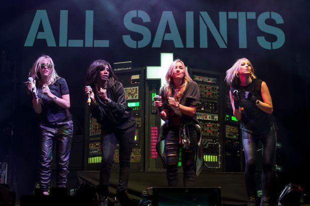 Nicole Appleton, Shaznay Lewis, Natalie Appleton and Melanie Blatt of All Saints perform on Day 1 of V festival 2014.