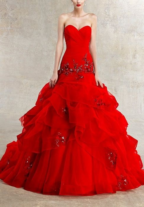 38a3c4f93fd07aa11f7377e0c0f47e8d  red wedding dresses couture wedding dresses - Wedding Clothes