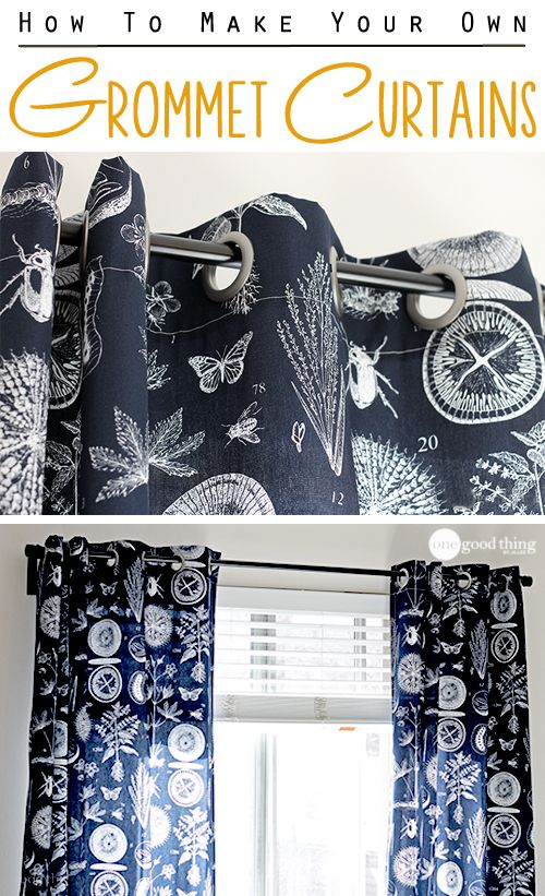 Make Your Own Grommet Curtains In An Afternoon