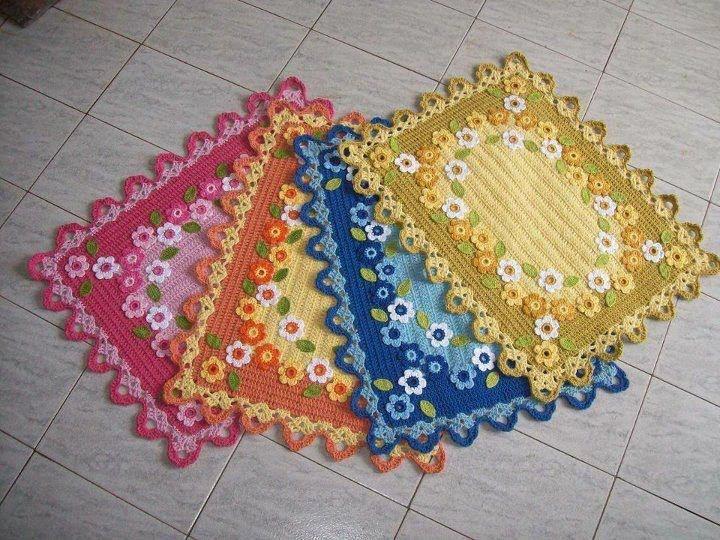 Receitas de Crochet: Tapetes de Crochê: Hook, Crochet Ideas, Crochet Dreams, Revenues, Crochet Irish, Crochet Rugs, Tapet Crochê, Quaver, Knits Rugs