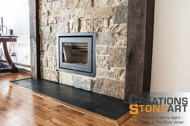 Fireplace Done With Kiamichi Natural Thin Stone Veneer