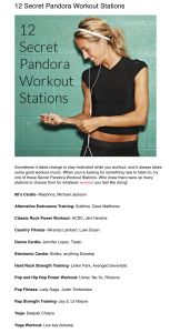Secret Pandora Workout Stations, already had 2 without knowing it, gotta try some of these other ones on my runs.