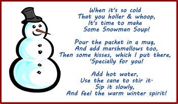 snowman soup poem
