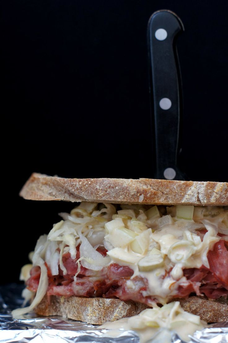 Closer look at my Reuben sandwich. Ooooooh yeah!
