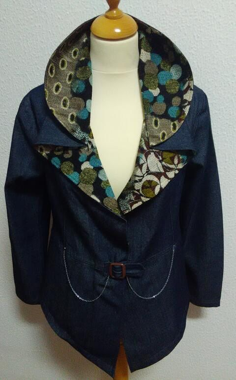Denim jacket Casaco de ganga by Made4YoubySofia on Etsy