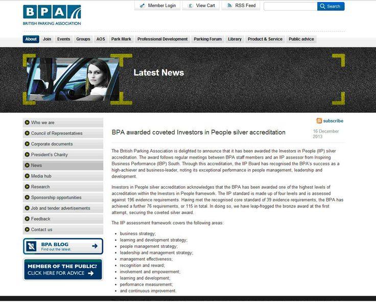 British Parking Association achieves IIP Silver