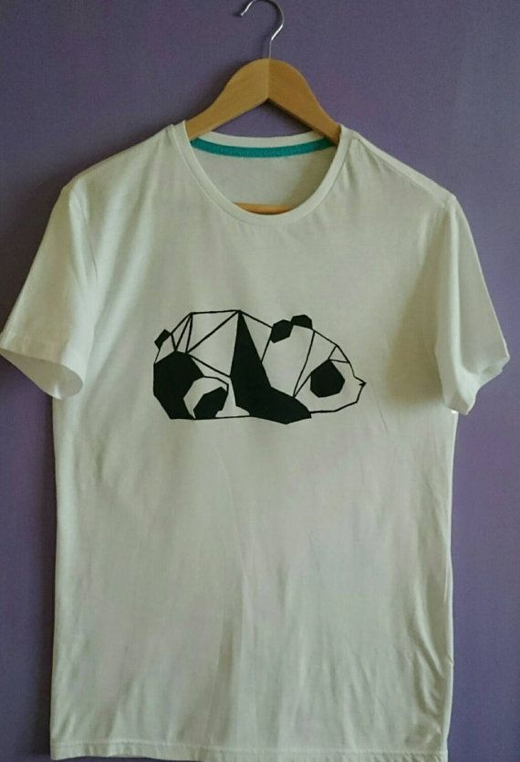 Unisex Minimalist Cubic Panda Shirt by SolukWorkshop on Etsy