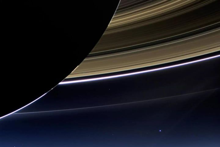 Bidding farewell to a stalwart spacefarer  For the past 13 years, the Cassini spacecraft has called the Saturnian planetary system home, logging nearly 5 billion miles on its cosmic odometer. In this timespan, the probe has completed 294 planetary orbits and more than 160 flybys of many of the planet's 53 confirmed moons, transmitting invaluable data and imagery back to us earthlings nearly 900 million miles away. (Earth is the pale blue dot in the righthand portion of the above photo.)…