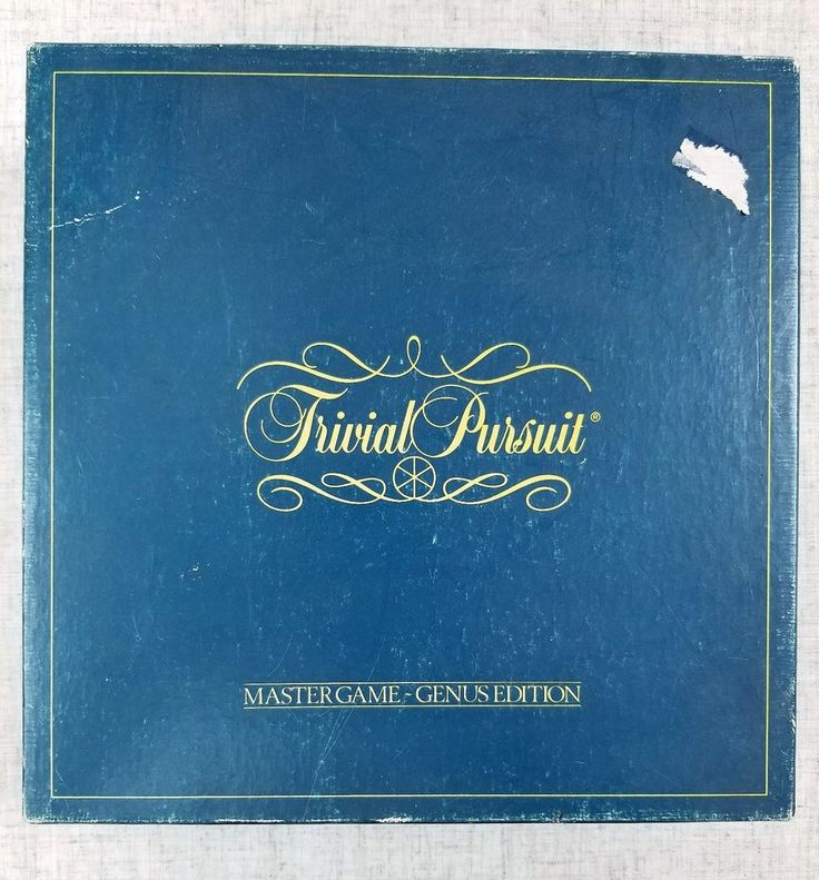 TRIVIAL PURSUIT Master Game Genus Edition 1981 No. 7 Complete #HornAbbotSelchowRighter