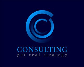 "consulting Logo design - Great ""C"" logo for wide variety of businesses.<br /><br />Colors and text can be changed for free. Price $350.00"