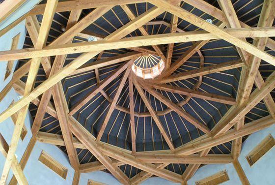 woah, self-supporting architecture design :: CNC carpentry: the 'selfsupportingframework'
