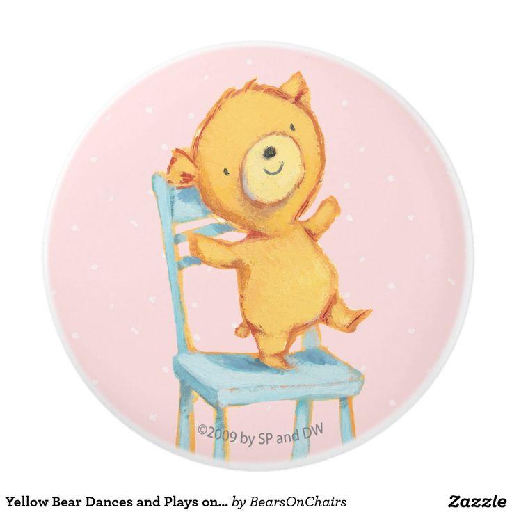 Bears On Chairs. Baby, bebé, pomo de cerámica. Regalos, Gifts. #Ceramic #knob