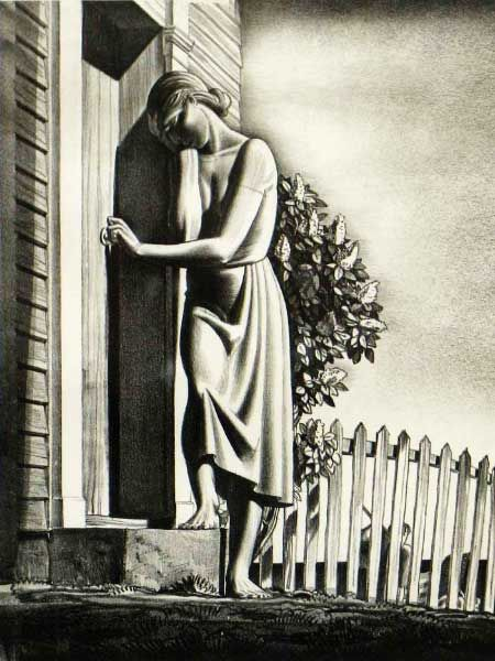 'And Women Must Weep' (1937) by American artist & printmaker Rockwell Kent (1882-1971). Lithograph, 10.375 x 7.75 in. via Art & Social Issues