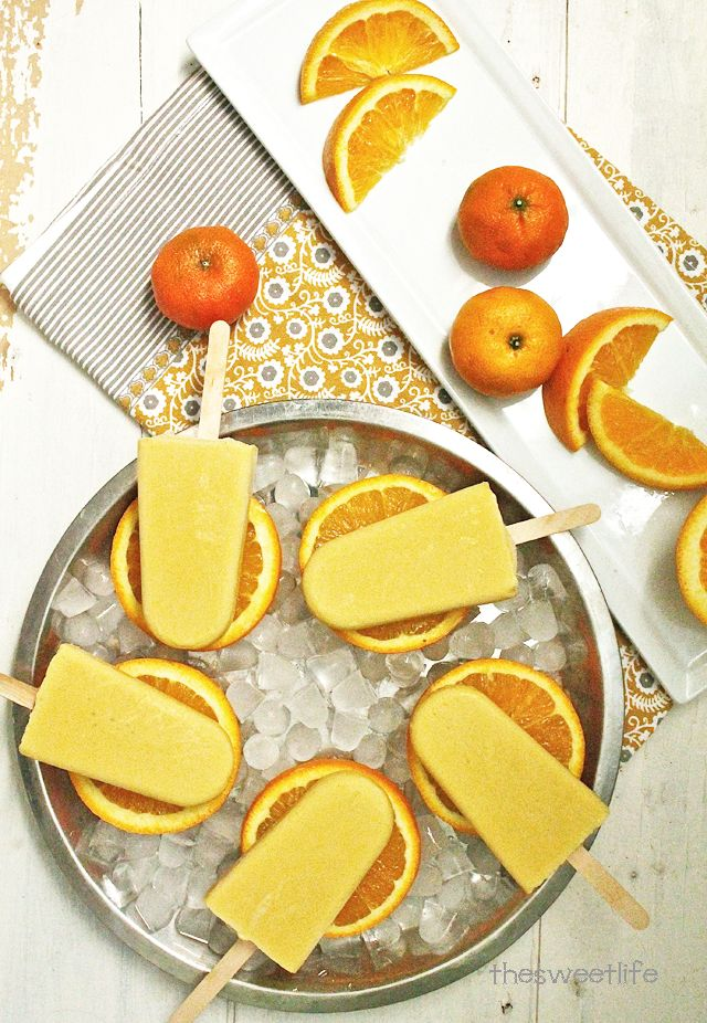 Vegan Orange Creamsicles made with just 4 all-natural ingredients | The Sweet Life