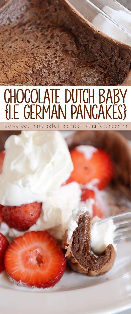Chocolate Dutch Baby Recipe {i.e. Baked German Pancake!}