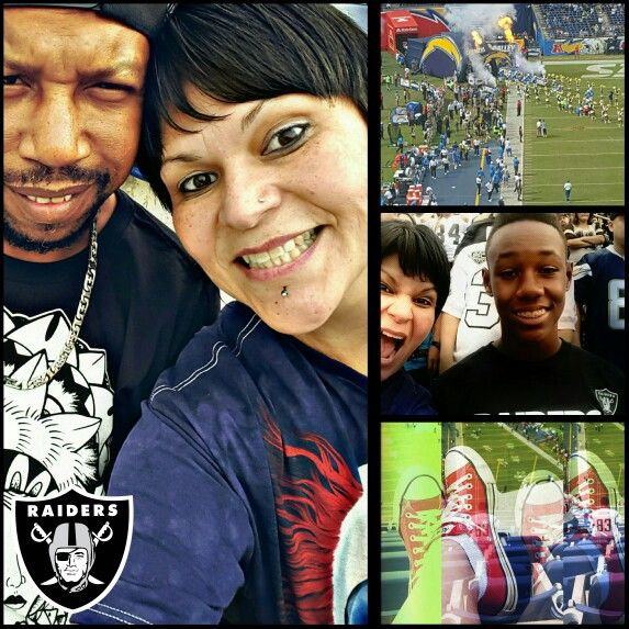 10.25.15 Raiders vs Chargers at Qualcomm Stadium. An early birthday gift for my grandson, Charles. The Raiders beat the brakes off of the Chargers.