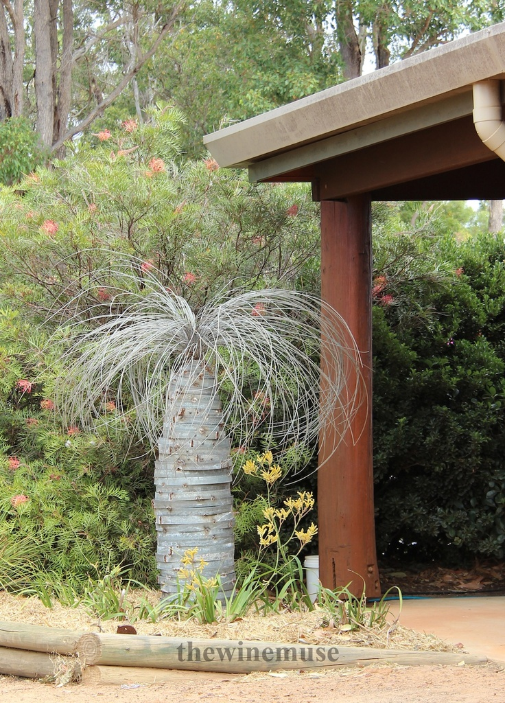 A grasstree sculpture at Ferngrove winery in the Frankland River region of Western Australia.