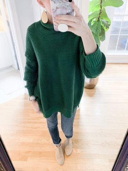 89d77ea5 Love this chunky green turtleneck sweater from Amazon! Perfect winter  outfit! #ShopStyle #MyShopStyle #Winter