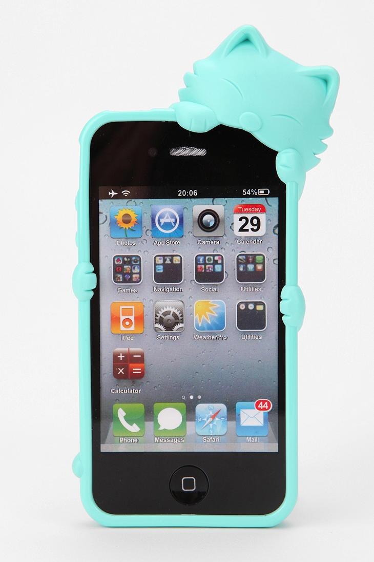 "Kiki Cat iPhone 4/4S Case  ""first i noms da cordz. den i noms da phonez"" - @flowuhz #UrbanOutfitters"