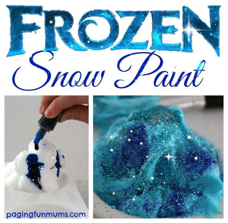 'Frozen' Snow Paint!