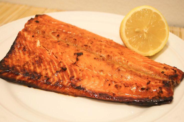 Soy Honey Salmon ready in under 10 minutes, 5 weight watchers points plus