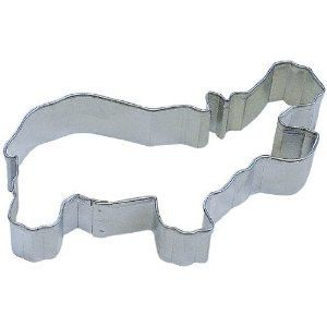 Hippo Cookie cutter 4 inches all I want for Christmas is a hippopotamus. $2.75, via Etsy.
