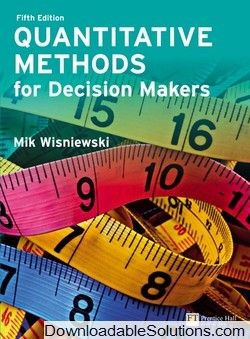 19 best solution manual download 22 images on pinterest textbook quantitative methods for decision makers 5th edition mik wisniewski solutions manual download answer key fandeluxe Choice Image
