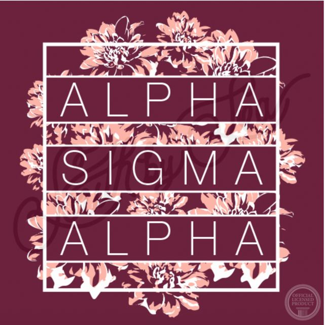 Alpha Sigma Alpha | Floral T-Shirt Design | Sisterhood | South by Sea | Greek…