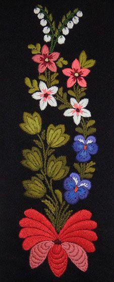 Swedish Dala-Floda embroidery