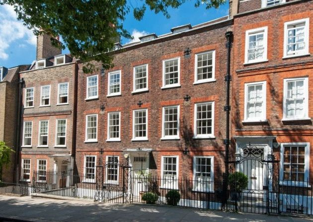 Built around 1728 by R Hughes, this five storey Grade II Listed Georgian house in Church Row, Hampstead is on the market for £6,700,000 with Marcus Parfitt