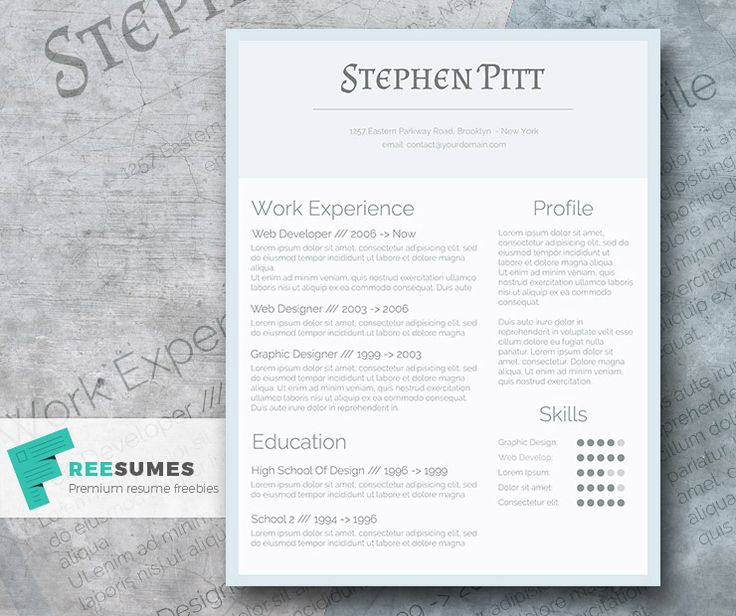 75 best Free Resume Templates For Word images on Pinterest Blush - free word resume template