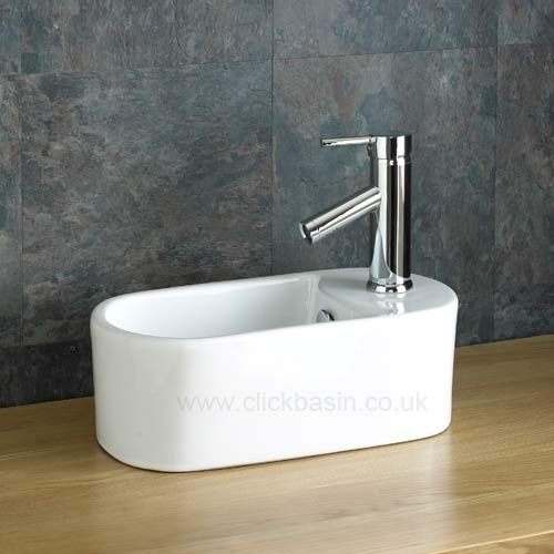 Space Saving 40.5cm x 23cm Teramo Compact Cloakroom Sink  www.clickbasin.co.uk
