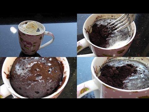 Saftiger NUTELLA/Schoko Tassenkuchen in 5 Minuten! Ergibt 2 Tassen. Bei 900Watt 1.20 in die Mikro- YouTube von TheBeauty2go