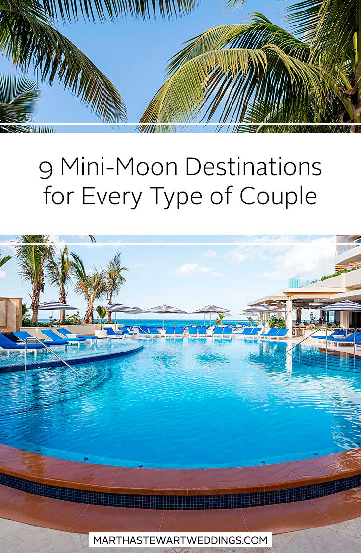 9 Mini-Moon Destinations for Every Type of Couple | Martha Stewart Weddings - Whether you're postponing an epic trip for later, or have just enough time for a short getaway, there's the perfect mini-moon destination out there for every couple.