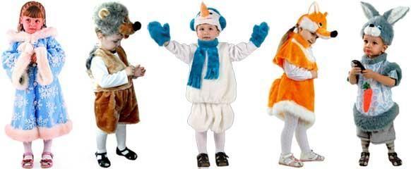 Примеры праздничных костюмов для детей на новый год