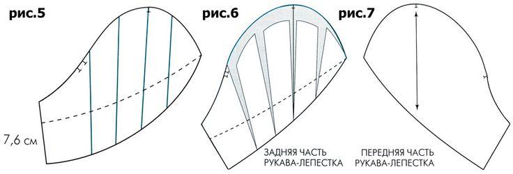 Выкройка рукава-лепестка   pokroyka.ru-уроки кроя и шитья