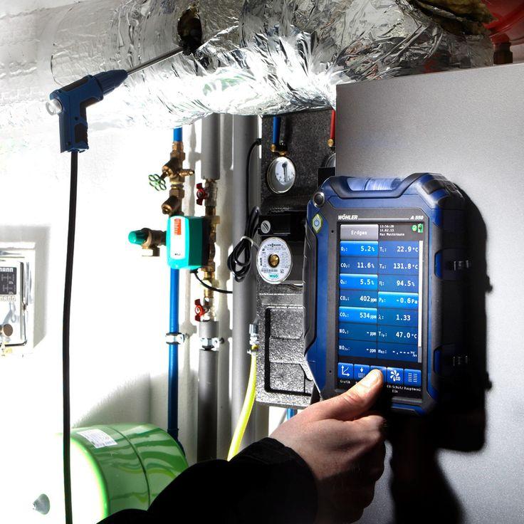 Wöhler A 550 Flue Gas Analyzer - Flue Gas Analyzer - Measuring Instruments Flue Gas Analysis - Applications | Wohler USA