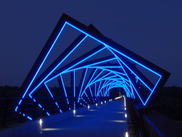 High Trestle Trail bike bridge, by night! ~ (Ankeny to ...