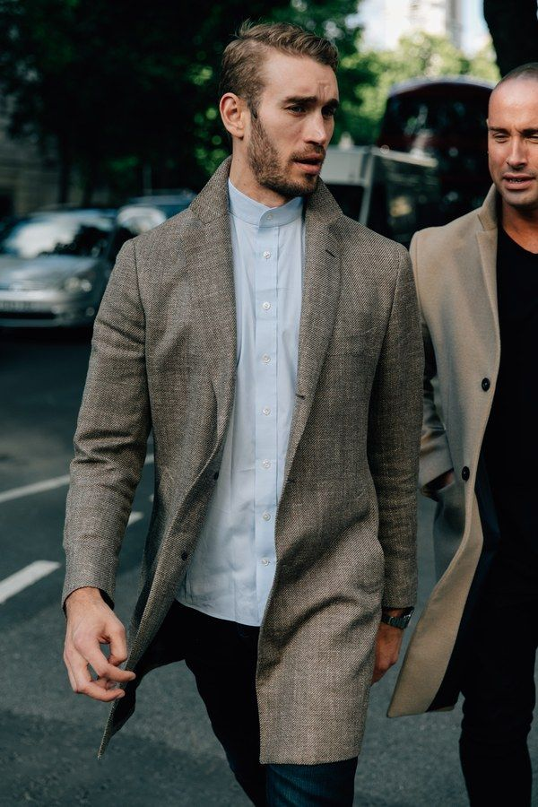 Inside the London men's Spring/Summer 2018 shows is where you'll find next year's must-have menswear. The street style outside is where you'll find this year's.