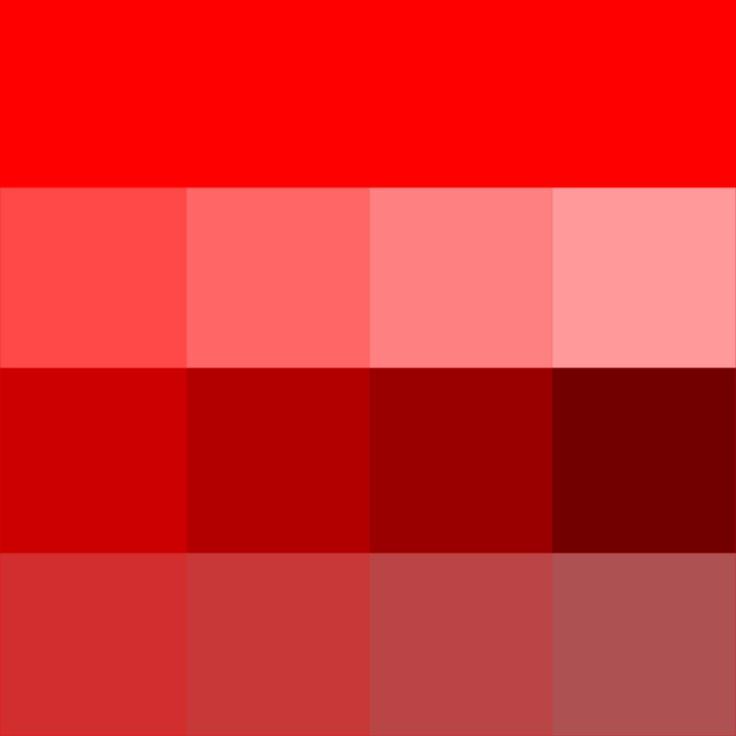 Red Hue,tints,shades & tones   Color shades, Soft summer ...