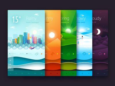 Animated Weather Widgets