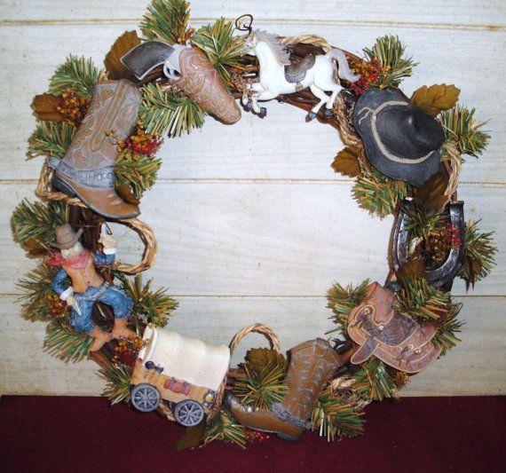 Cowboy Christmas Decor: 17 Best Images About WESTEN WREATHS On Pinterest