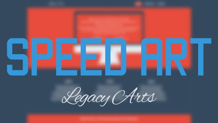 Flat minimalist web design - Speed art + PSD