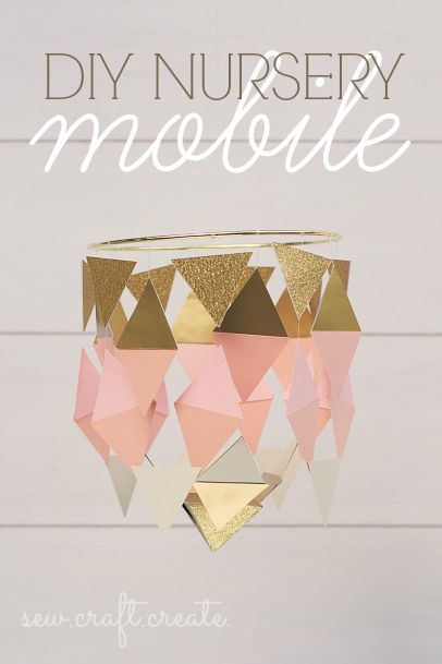 #DIY Nursery Mobile | Super cute mobile idea for a baby's room from @Heidi | Supplies available at Joann.com | #craftmonthlove