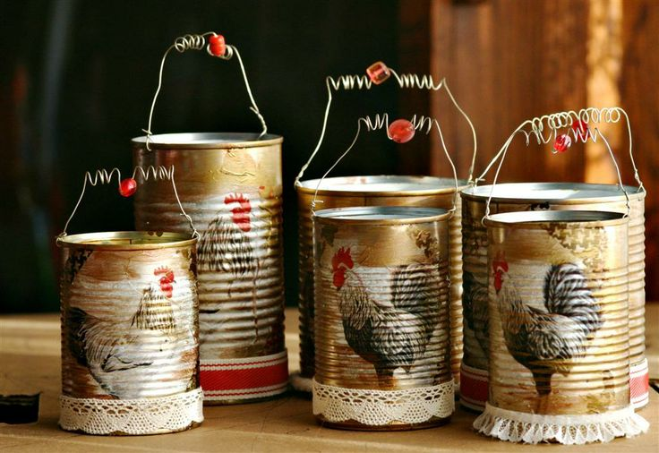 Tin Can Crafts: Tutorials and Ideas